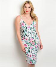 SPRING SALE - Plus Size Chic Floral Dress Size 18