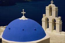 571011 Church At Firostephani Near Fira Santorini Greece A4 Photo Print