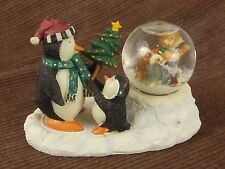 Mummford's Journey Snow Globe Figurine / Christmas Winter Penguins Husky Dogs