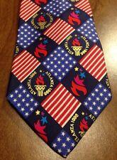 ATLANTA 1996 Olympic Games Neck Tie 100% Silk John Henry Georgia necktie summer
