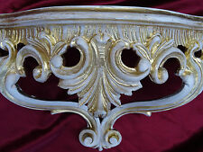 Wall Console Shelf Gold White Baroque Reproduction 15x7 7/8x6 1/8in Mirror 811