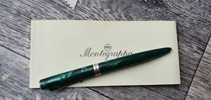 Montegrappa Green Ballpoint Pen Silver 925  without box
