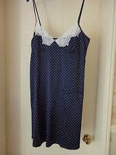 2d91a59247 John Lewis - Spot Print Luxury Satin Chemise Nightdress in Blue - Size M -