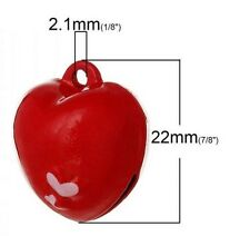 Dog collar bell charm / do you love your dog /  heart bell / ring attached