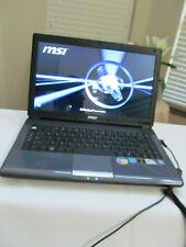 """MSI MS-1451 A4000 Laptop🔥 14""""/Dual Core 1.80Ghz/2GB/160GB/DVD-RW/Win7/Wifi"""