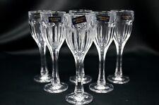 Crystal Glass Set of 6 Vodka Liqueur Shot Glasses 2oz Bohemia Czech Glass Gift