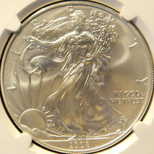 2008 W  SILVER EAGLE, NGC,  MS 69, REVERSE OF 2007