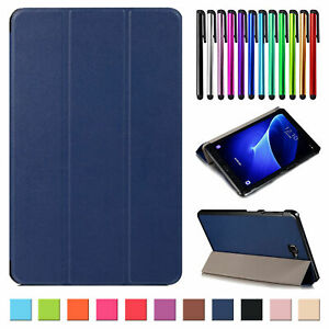 """Slim Leather Stand Case Cover For Samsung Galaxy Tab A E S2 S3 S7 8"""" 9.7"""" 10.1"""""""