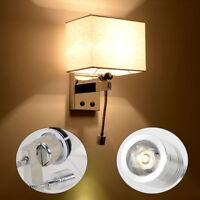 Modern LED Reading Wall Lamp Wall Light Bedside Bedroom Hotel Wall Sconce 110V