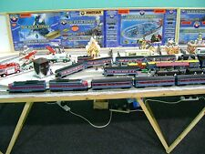 Lionel Polar Express 0 gauge train layout   24ft x 4ft on 3 boards