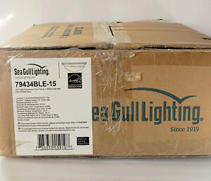 Sea Gull Lighting 79436BLE-15 Nash 3 Light Flush Mount Ceiling Fixture White