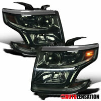 For 2015-2020 Chevy Suburban Tahoe Smoke Projector Headlights Lamps+LED Strip