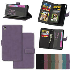 Magnetic Genuine pu Leather Flip Wallet Stand Phone Case Cover for Sony Xperia