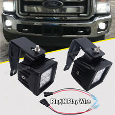WSays Fit Ford F250/F350/F450 3'' 24W Fog LED Light Pod Lower Bumper Bracket Kit