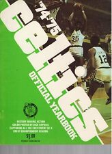 1974 and 1975 Boston Celtics Official Yearbook