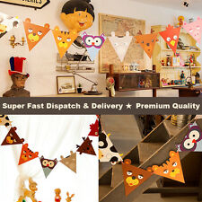 Hot Sale! Animals Paper Flag Garland Bunting Banner Celebration Party Decoration