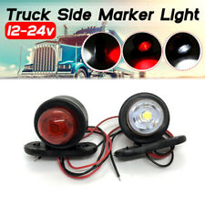New listing Car Truck Led Side Marker Light Double Lamp White Red For Trailer Lorry CarOdfs