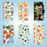 Tropical Pattern Wallet Cover Samsung Galaxy S3 4 5 6 7 8 Edge Note Plus 061