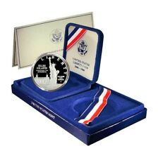 USA Liberty Coin Set 1986s Commemorative Proof Silver Dollar Mint Box and COA