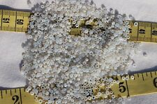 9/0 Antique French Glass Opal Off White Seed Beads & Tubes Crafts Jewelry /1oz