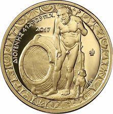 Griechenland 200 Euro Gold 2017 PP Goldmünze Diogenes im Etui mit Zertifikat