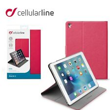Cellularline iPad Air 2 Folio Tablet Case Ultra Slim Folio Cover Stand  Pink