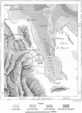 ERITREA. Gulf of Zula, sketch map c1885 old antique vintage plan chart