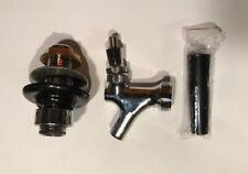 Chrome Draft Beer Faucet Amp Tap Shank Combo Kit Kegerator Homebrew 3 14 New