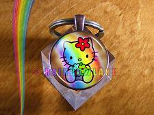 Handmade Cute Hello Kitty Keychain Car Key Chain Key Ring Charm Charms Gift