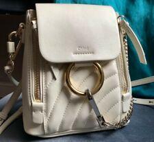Chloe Faye white Backpack Genuine