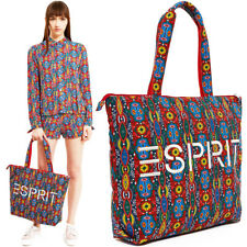 ESPRIT Opening Ceremony Large Tote Bag Paisley Floral Canvas Vtg 80s 90s Logo