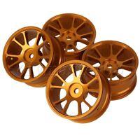 4 Stück Aluminium Alloy RC 1:10 Rennwagen Gold Farbe Felgen mit 10-Speichen