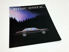 1983 Mercury Zephyr Brochure