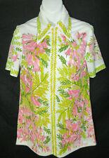 Vintage Spring Short Sleeve Shirt 1960's Vera Blouse Top Notch Collar Signature