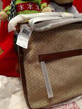 NWT Coach Madison Needlepoint OpArt Hobo Crossbody Shoulder Bag KhakiBrown 27904