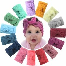 15pcs 4.5in Hair Bows Soft Elastic Nylon Headbands for Baby Girls Infant Toddler