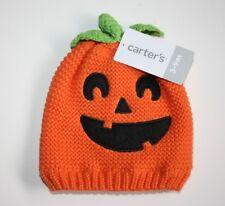 Carters 3-9 Months Knit Pumpkin Hat Baby Boy Girl Halloween Holiday Orange