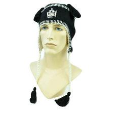 NHL LNH Zephyr Alpine Tassel Beanie Fleece Lined Knit Hat LA Los Angeles Kings