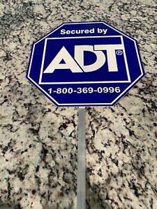 Sign,ADT Security Metal Yard Sign Stake