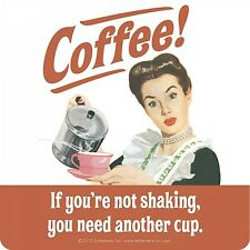 Coaster COFFEE! If you're not shaking, you need another cup Fun gift Retro New