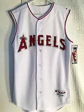 Majestic Authentic MLB Jersey Angels Team White Sleeveless sz 40