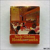 New China Restaurants Shepparton Castlemaine Bendigo Matchbook (MK126)