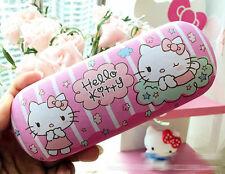 New Cute For Hello Kitty Head Glasses Eyeglass Case Holder Box Kids Gift