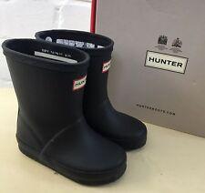 EUC Navy Hunter Kids First Classic Wellies Boots Infant Child UK 5 / 22 Boy Girl