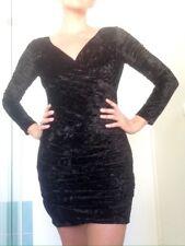 Johnny Dexter Australia Black Velvet Long sleeve Mini Dress With Matching Jacket