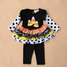 Baby Christmas Set Toddler Lovley Mushroom Outfit Halloween Clothing Set 2-6X