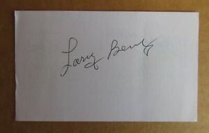 LARRY BENZ SIGNED AUTOGRAPH 3X5 INDEX CARD NFL 1963-1965 CLEVELAND BROWNS