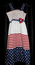 BONNIE JEAN Girls 12 pageant PARTY CASUAL photos RWB patriotic SUN DRESS USA