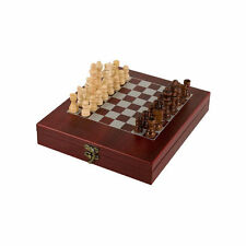 Wood Chess Set Rosewood Finish Box & Chess Board Great Gift, free Personalized