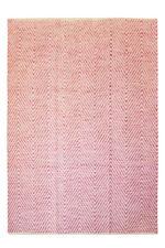 100% Wolle Handgewebt Teppich Flachflor Modern  Handgefertigt Pink 120x170cm